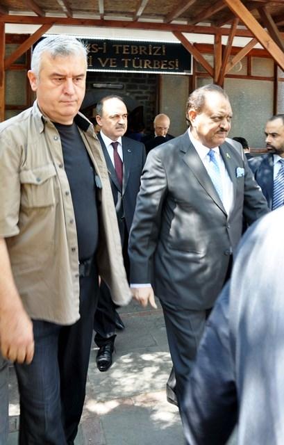 Pakistan Cumhurbaşkanı Hüseyin, Konya'da 2