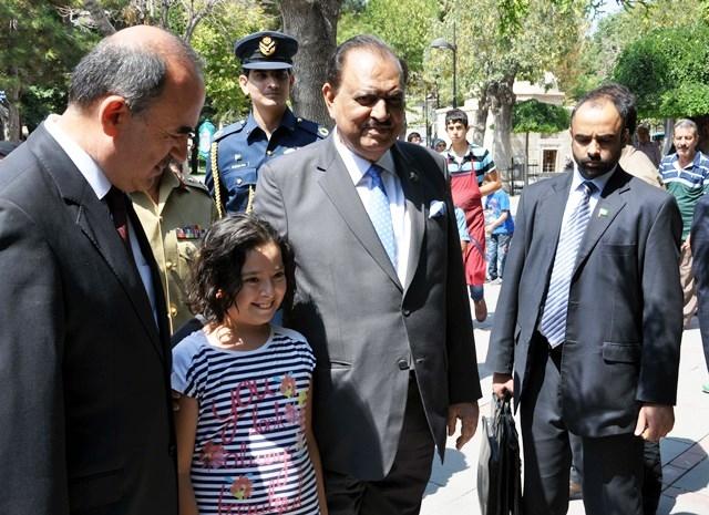 Pakistan Cumhurbaşkanı Hüseyin, Konya'da 5
