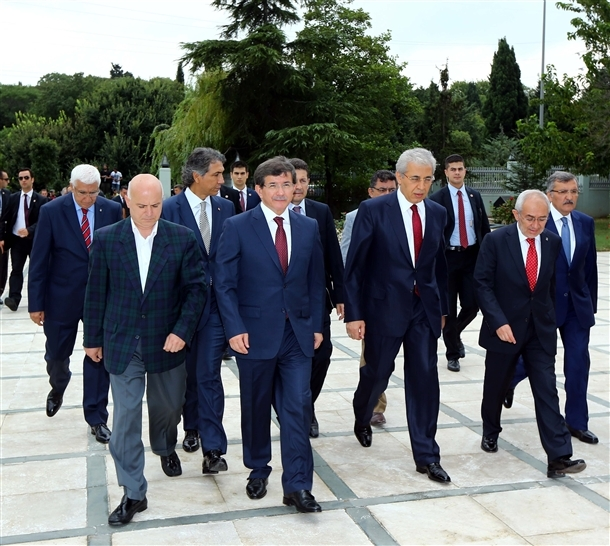 Davutoğlu Erbakan'ı ziyaret etti 11