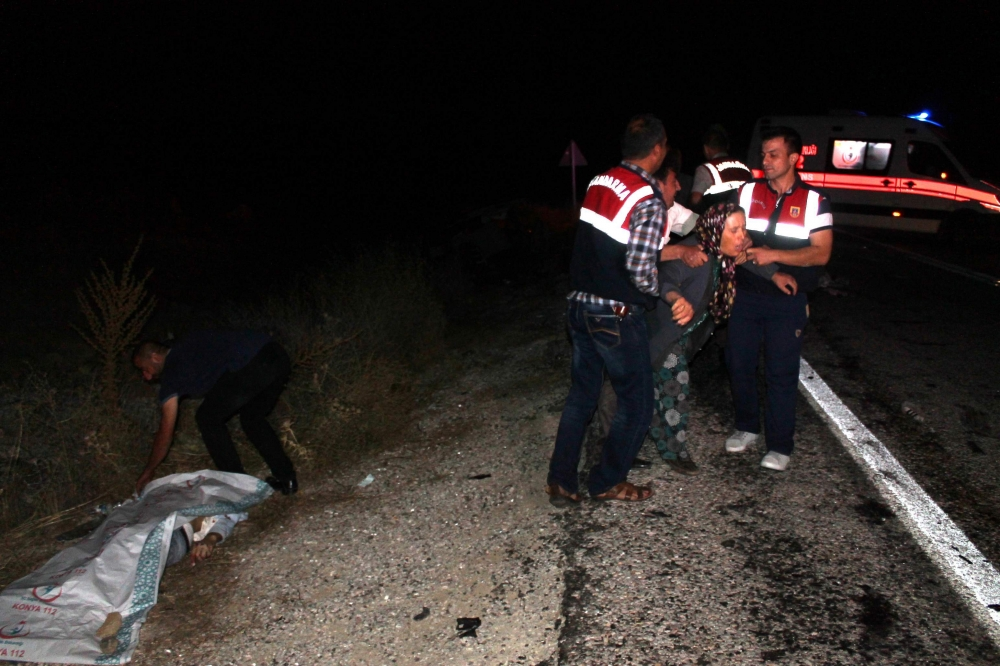 Konya'da feci kaza... 2
