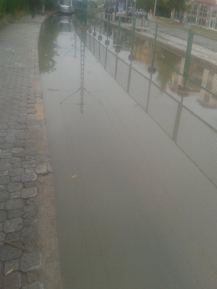 Konya'da yağış tramvay ulaşımını olumsuz etkiledi 1