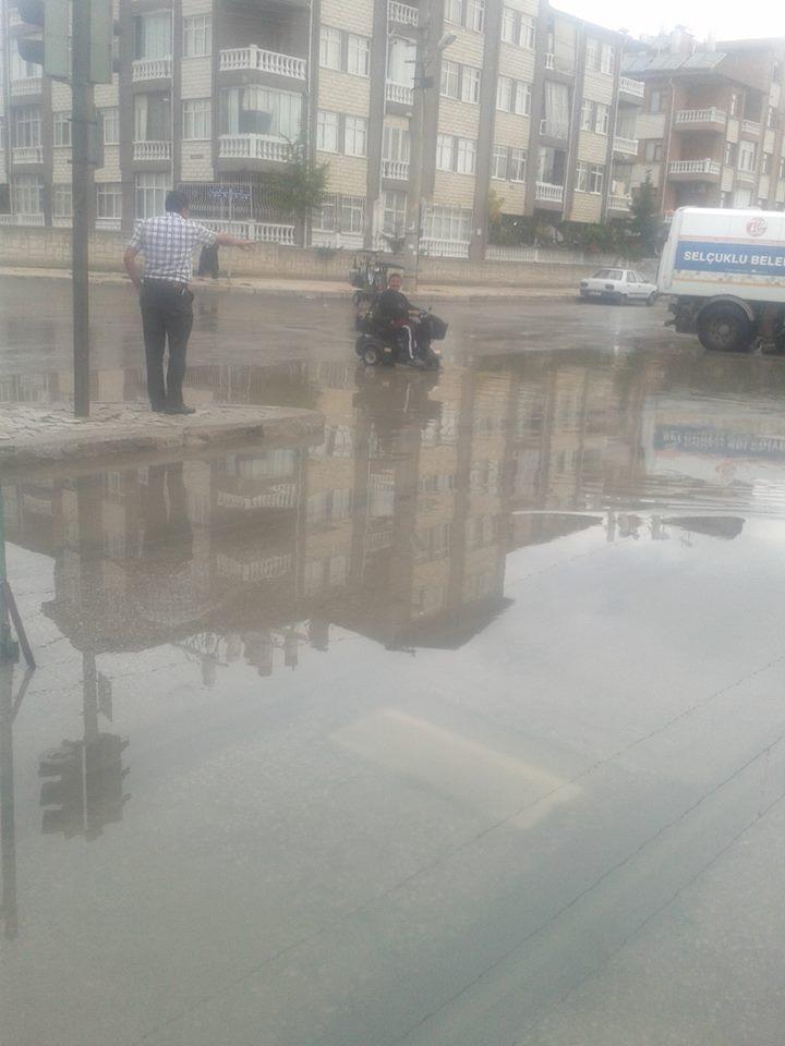 Konya'da yağış tramvay ulaşımını olumsuz etkiledi 5