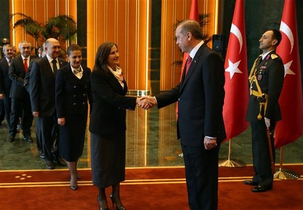Erdoğan Beştepe'de tebrikleri kabul etti 10