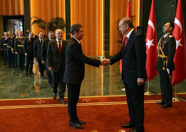 Erdoğan Beştepe'de tebrikleri kabul etti 9