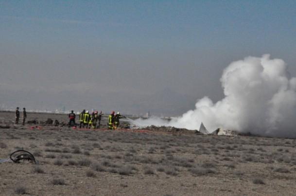 Konya'da askeri uçak düştü! 1