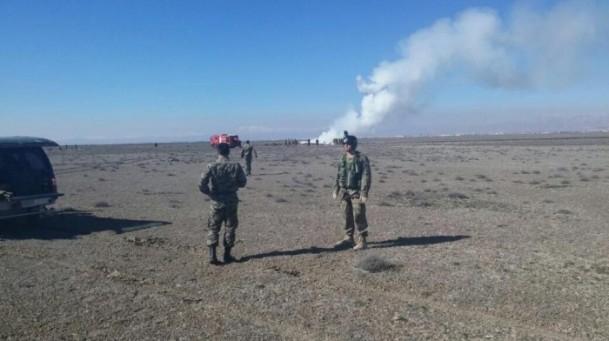Konya'da askeri uçak düştü! 2
