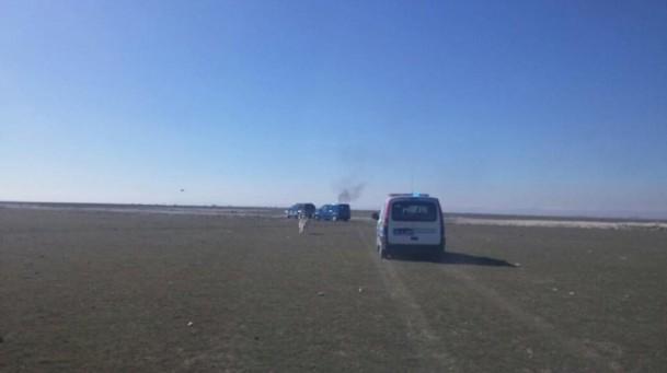 Konya'da askeri uçak düştü! 3