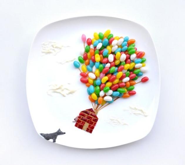 En renkli yemek tabakları 22