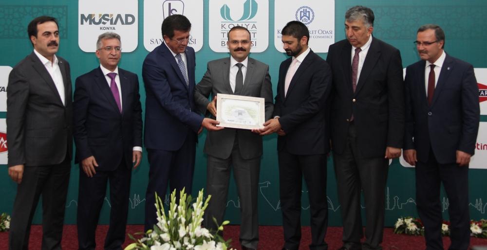 Bakan Nihat Zeybekçi'den Konyalı firmalara ödül 10