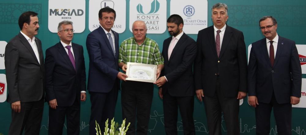 Bakan Nihat Zeybekçi'den Konyalı firmalara ödül 13