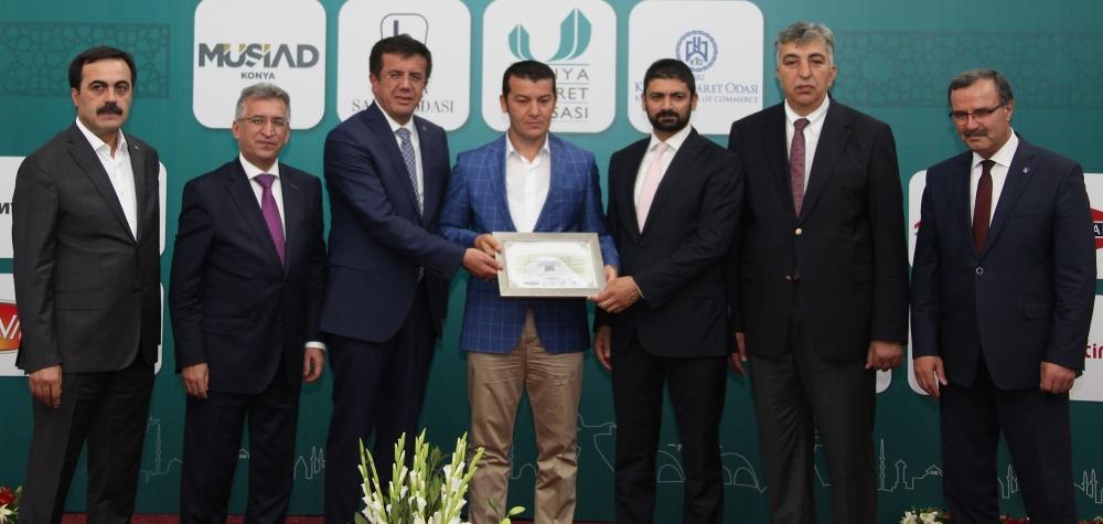 Bakan Nihat Zeybekçi'den Konyalı firmalara ödül 15