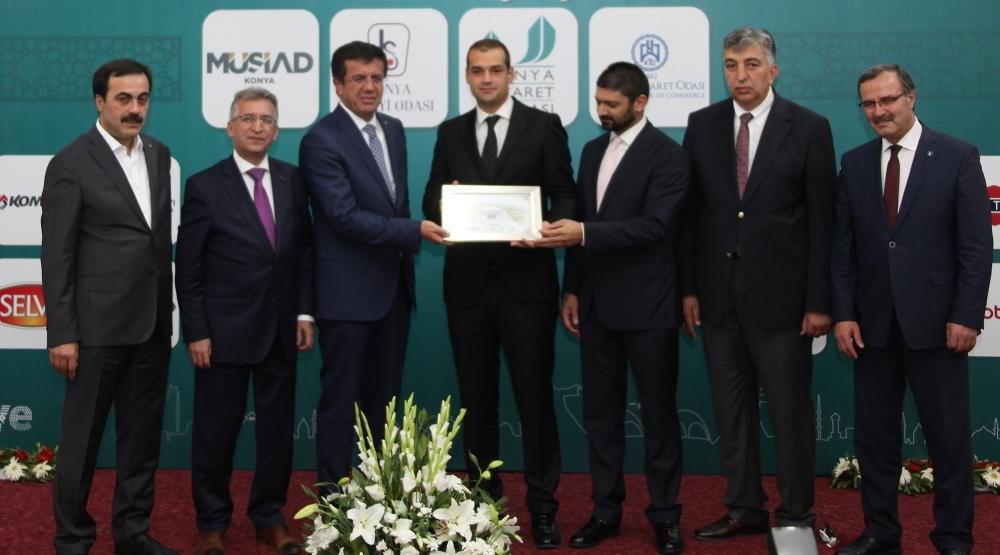Bakan Nihat Zeybekçi'den Konyalı firmalara ödül 16