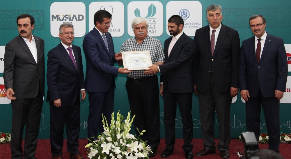 Bakan Nihat Zeybekçi'den Konyalı firmalara ödül 19