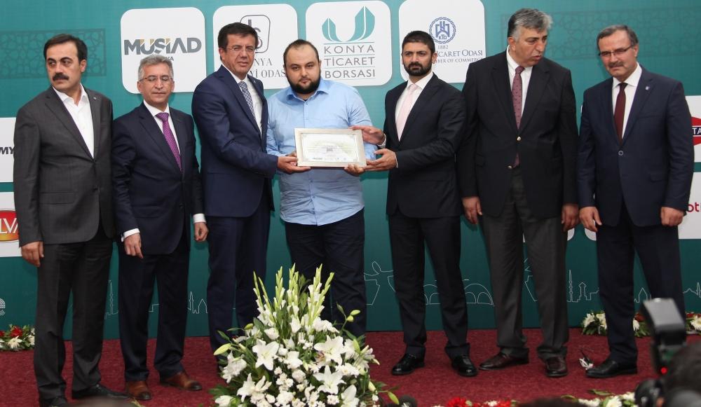 Bakan Nihat Zeybekçi'den Konyalı firmalara ödül 26