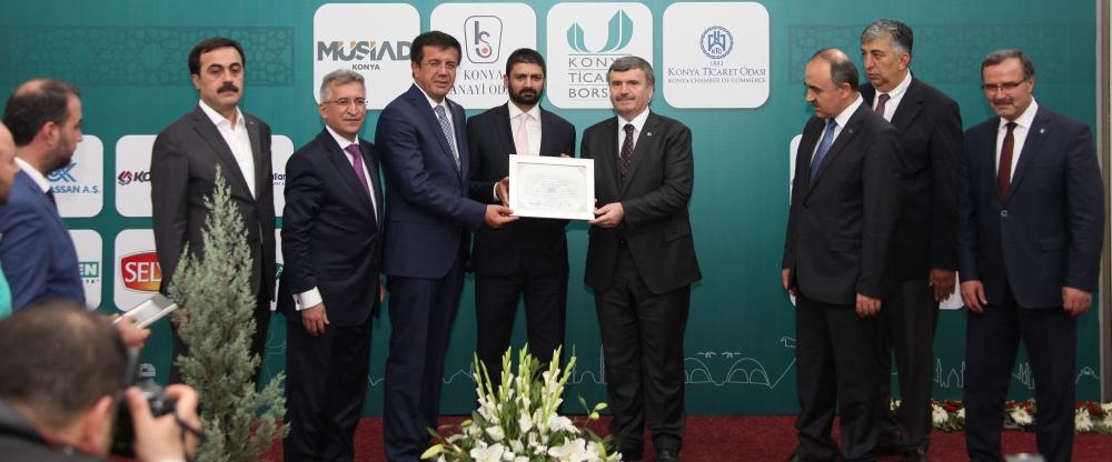 Bakan Nihat Zeybekçi'den Konyalı firmalara ödül 29