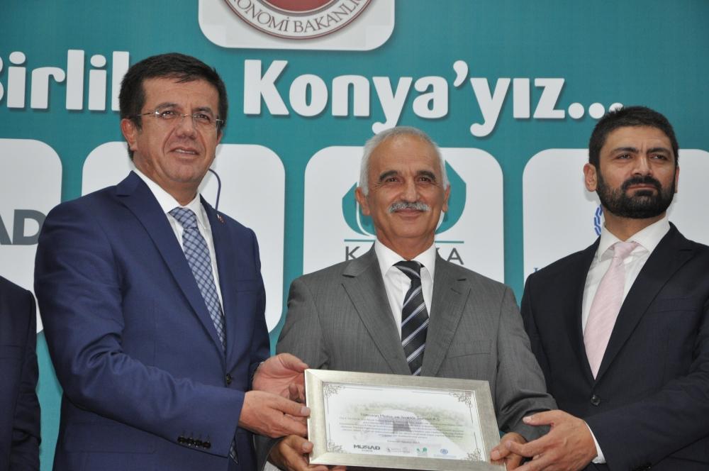 Bakan Nihat Zeybekçi'den Konyalı firmalara ödül 4