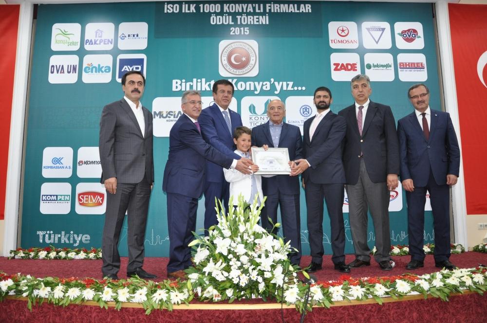 Bakan Nihat Zeybekçi'den Konyalı firmalara ödül 5