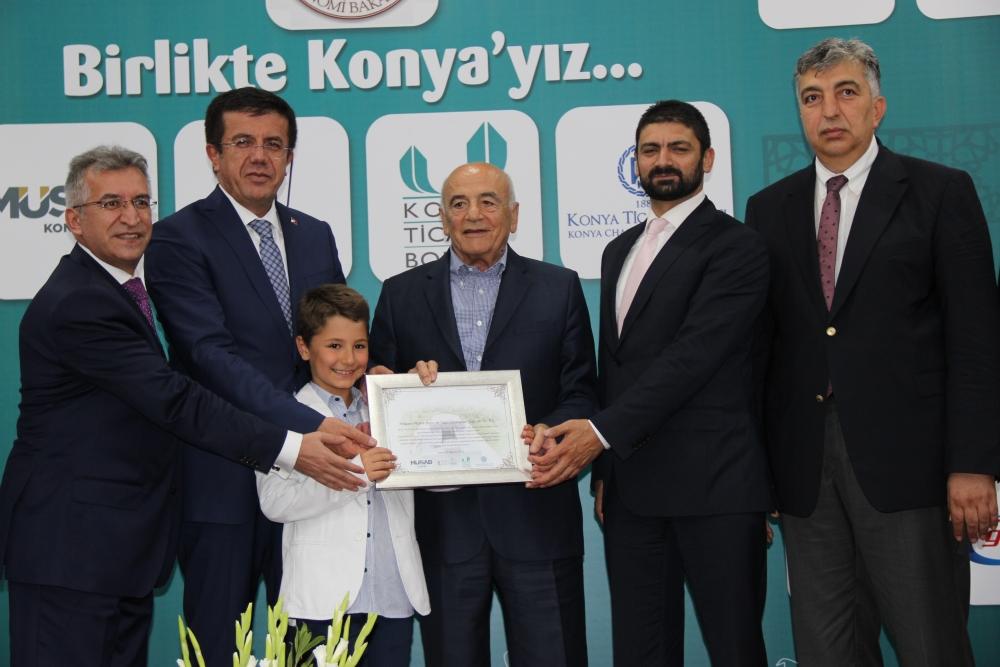 Bakan Nihat Zeybekçi'den Konyalı firmalara ödül 6
