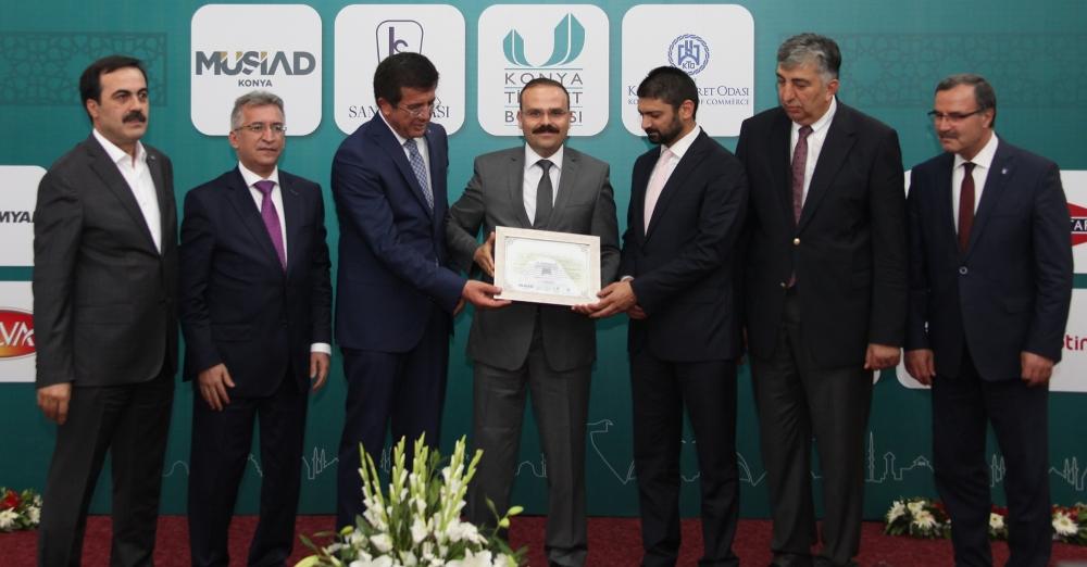 Bakan Nihat Zeybekçi'den Konyalı firmalara ödül 9