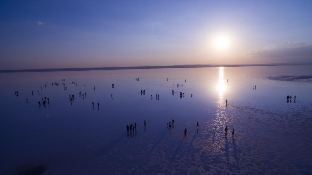 Tuz Gölü'ne tatilcilerinden büyük ilgi 6