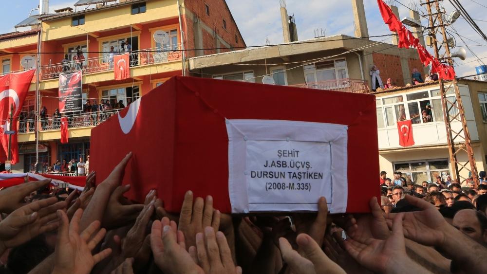 Şehit Jandarma Astsubay Üstçavuş Taştiken'e veda 13