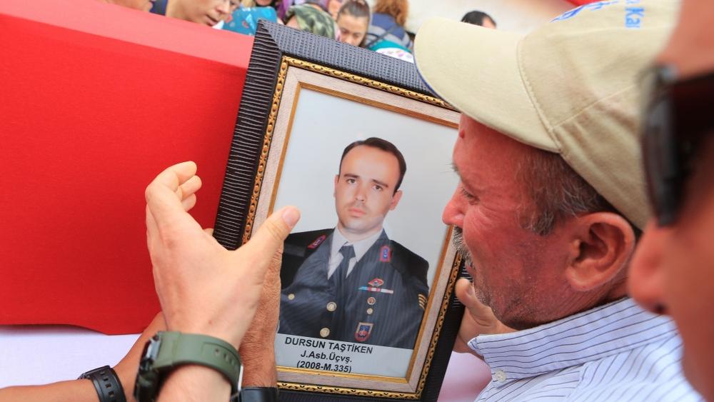 Şehit Jandarma Astsubay Üstçavuş Taştiken'e veda 2