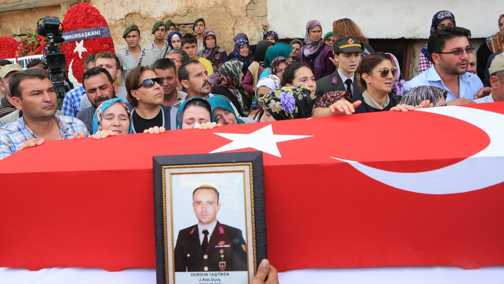 Şehit Jandarma Astsubay Üstçavuş Taştiken'e veda 3