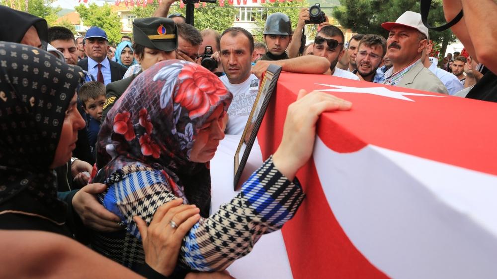 Şehit Jandarma Astsubay Üstçavuş Taştiken'e veda 7
