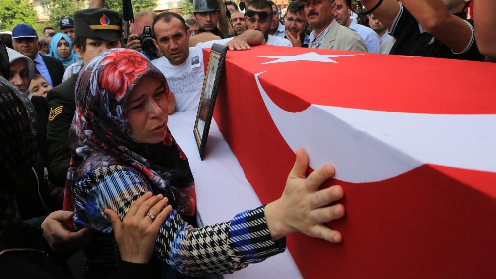 Şehit Jandarma Astsubay Üstçavuş Taştiken'e veda 9