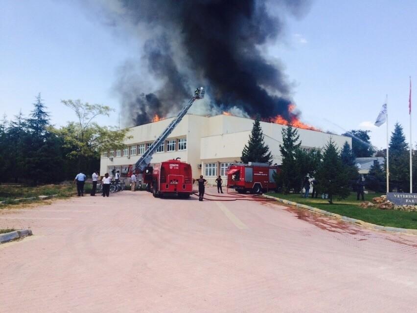 Konya'da fakülte binasında yangın 2