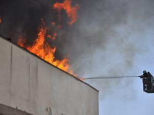 Konya'da fakülte binasında yangın