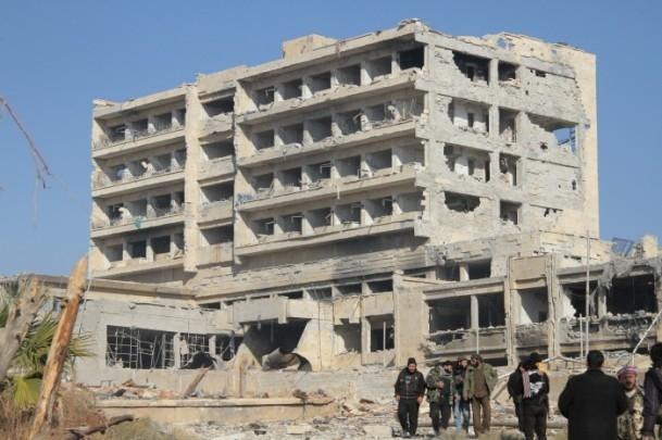 Muhaliflerin ele geçirdiği Kindi Hastanesi 16