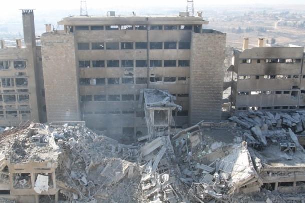 Muhaliflerin ele geçirdiği Kindi Hastanesi 17