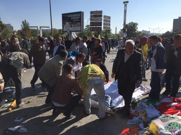 Ankara'da büyük patlama: Olay yerinden görüntüler 1
