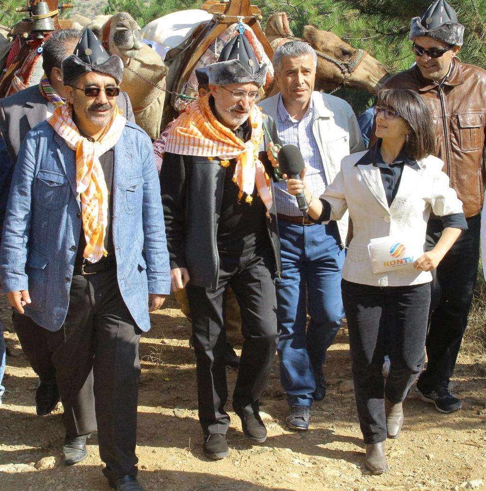 Konya'da Mazi'den Ati'ye ticaret kervanı yürüyüşü 34