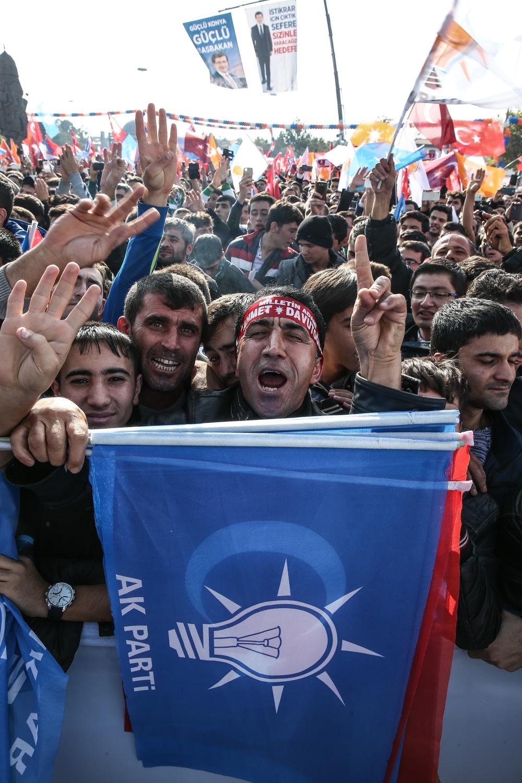 AK Parti'nin Konya mitinginden kareler 11