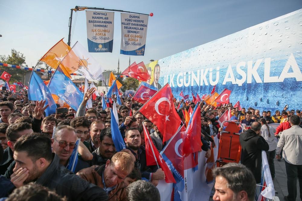 AK Parti'nin Konya mitinginden kareler 12