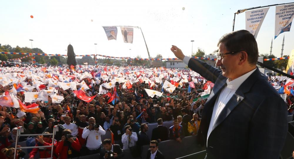 AK Parti'nin Konya mitinginden kareler 15