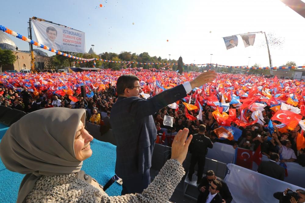 AK Parti'nin Konya mitinginden kareler 18