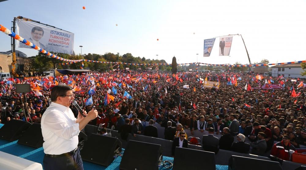 AK Parti'nin Konya mitinginden kareler 21
