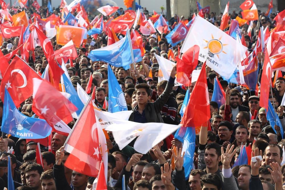 AK Parti'nin Konya mitinginden kareler 32
