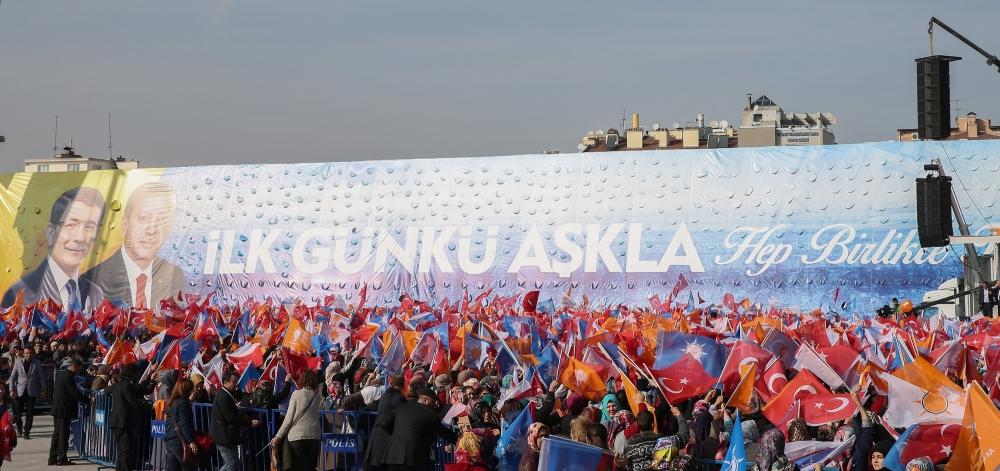 AK Parti'nin Konya mitinginden kareler 4