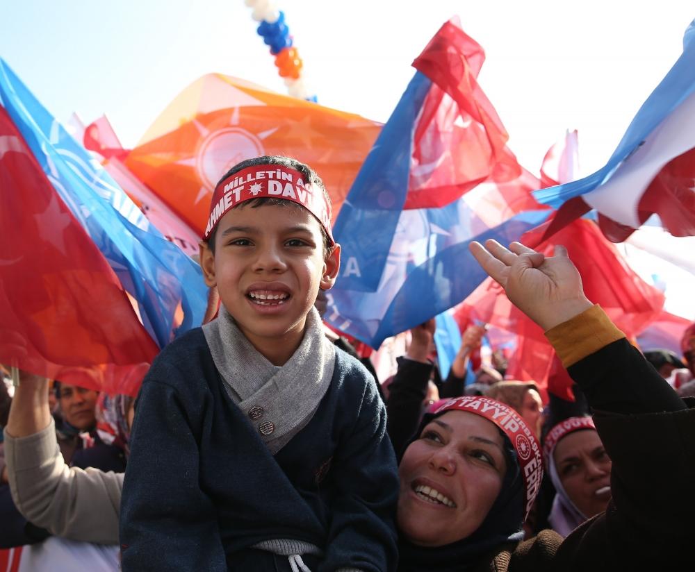 AK Parti'nin Konya mitinginden kareler 7