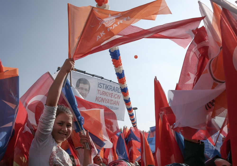 AK Parti'nin Konya mitinginden kareler 8