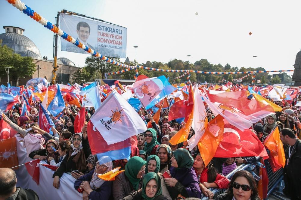AK Parti'nin Konya mitinginden kareler 9