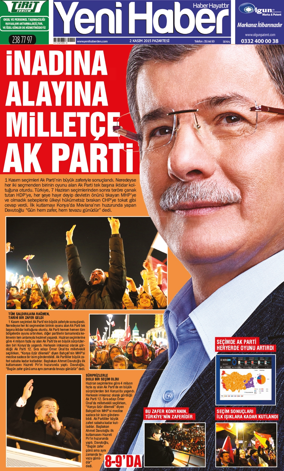 Seçim manşetleri 1
