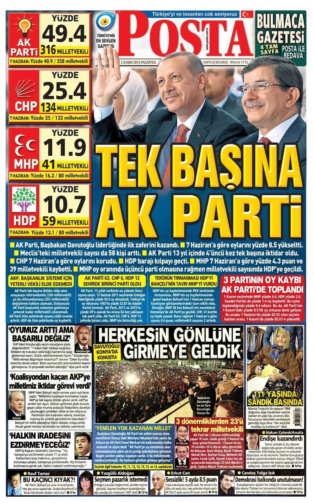 Seçim manşetleri 11