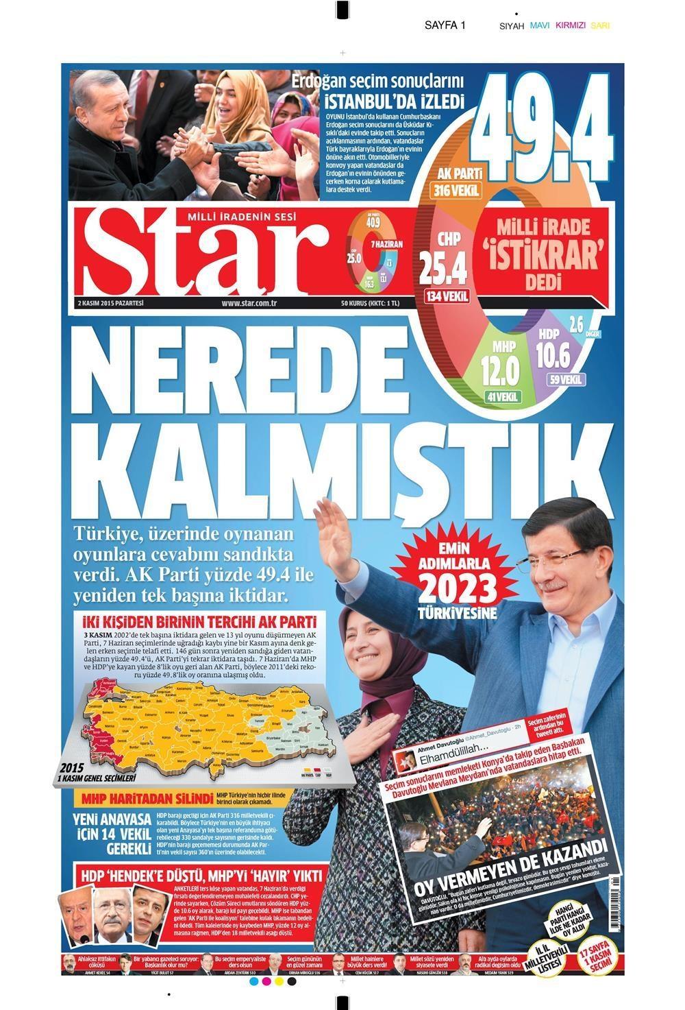 Seçim manşetleri 14