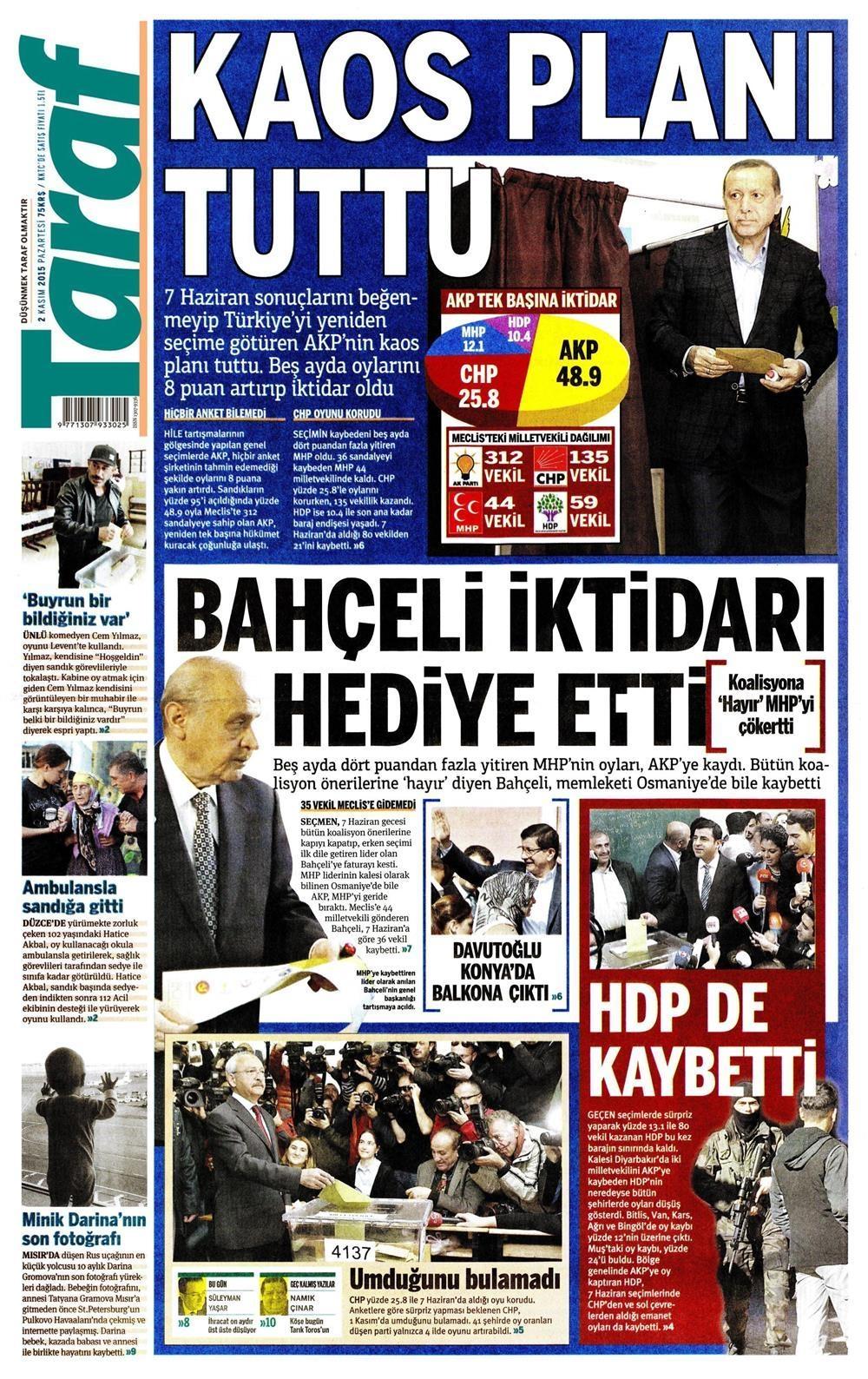 Seçim manşetleri 16