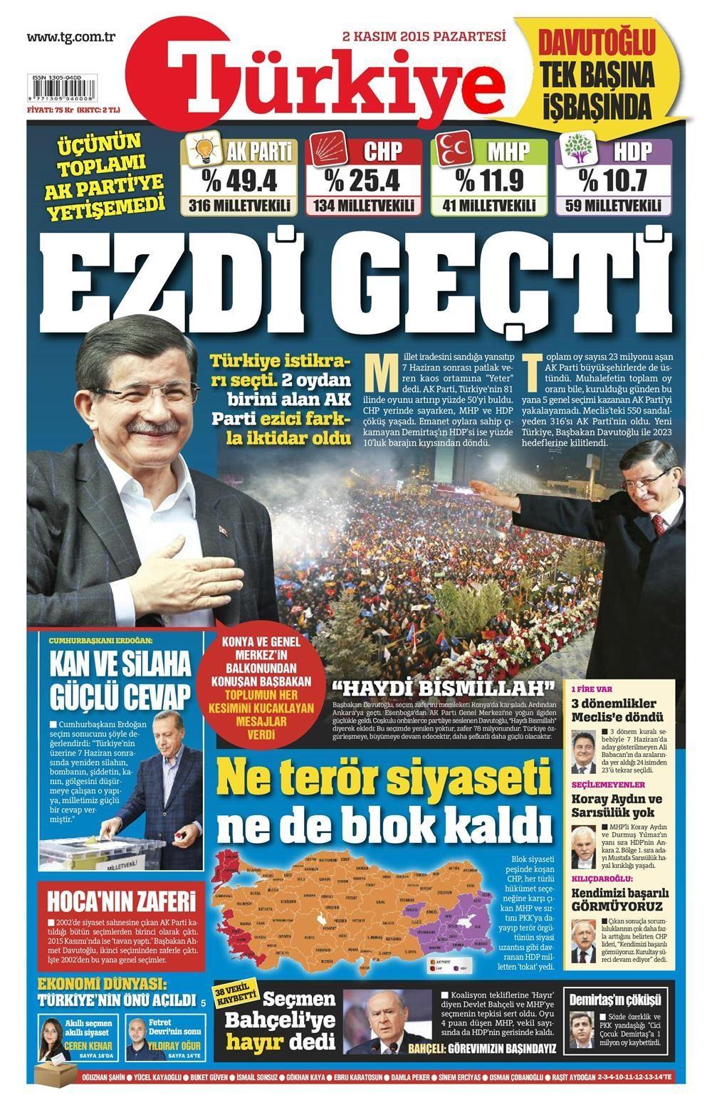 Seçim manşetleri 17